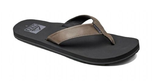 REDUCED REEF MENS FLIP FLOPS.TWINPIN VEGAN LEATHER ARCH SUPPORT THONG SANDALS 9S